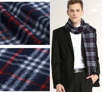 Wholesale High end cashmere scarf The classic men plaid scarves colors From Inner Mongolia prairie seiko fine to do quality assurance