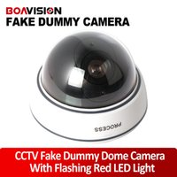 Wholesale Dummy Emulational Camera Fake CCTV Camera dome Waterproof Outdoor For Home Security Camera With Flash LED Drop Shipping