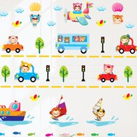 automobile vinyl graphics - AY605B Removable vinyl wall stickers Ships and planes of automobile home decor wall decals for kids rooms