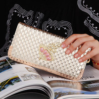 Wholesale Hot sale women quality long wallet crown purse bag women Wallet With Coin Bag Plum flower clutch long wallet cell phobe bag