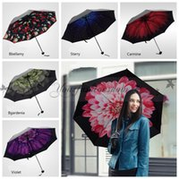 Wholesale Fedex DHL Free Trendy Women Windproof Anti UV Sun Rain Flower Princess Folding Umbrella Windproof Anti UV Sun Rain Folding Umbrella Z587