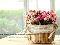 autumn wedding bouquets - Autumn heads bouquet small bud roses bract simulation flowers silk rose decorative Flowers Home decorations for Wedding