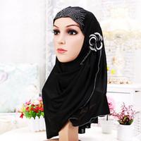 beautiful hijab girls - 10 colors fashion polyester scarf wrapped head like a bandana beautiful girls Muslim hijab