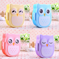 Wholesale Cartoon Owl Lunch Box Food Fruit Storage Container Portable Bento Box Food safe Food Picnic Container for Children Gifts