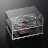 acrylic jewelry display box - New Arrival High Quality Acrylic Cosmetic Organizer Boxes Clear Makeup Jewelry Cosmetic Storage Display Box MN C