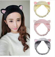 Wholesale Hot Sale Cat Ear Hair Head Band Hairbands Headbands Party Gift Headdress Headwear Ornament Trinket Hair Accessories Makeup Tools