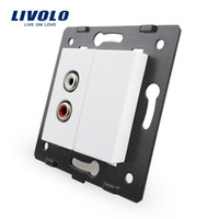 audio materials - Livolo White Plastic Materials EU Standard Function Key For Audio Socket VL C7 AD