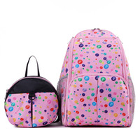 Wholesale 2 Bags Set New Mummy bag Backpack Baby Diaper Nappy Changing Bag for baby mommy