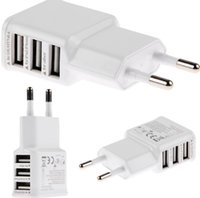 Wholesale EU Plug Ports USB Wall Travel Charger Adapter for Iphone S for Samsung IOS Android Smartphone