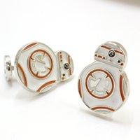 bb friend - BB Cuff Links Spherical Robot Rebel Alliance Enamel Shirt Brand Cuff Buttons Movie Star Wars Cufflinks For Mens Friend Gifts