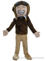 air force pictures - SX0729 real picture a air force pilot mascot costume with brown suit for adult to wear