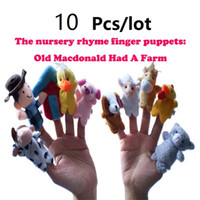 Wholesale The world classic songs story Old Macdonald had a farm Finger Puppets Cloth Doll Baby Educational Hand Toy Story Kid bag