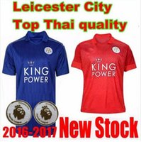 Wholesale thai quality A Leicester City Soccer Jersey VARDY ULLOA MAHREZ Leicester City blue red futebol thirts
