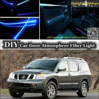 armada band - interior Ambient Light Tuning Atmosphere Fiber Optic Band Lights For Nissan Armada WA60 onwork Door Panel illumination Refit