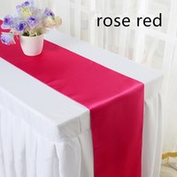 Wholesale Satin Table Runner Wedding Cloth Runners Colourful For Christmas Wedding Holiday Decor Favor Wedding Decorations Shipping Free