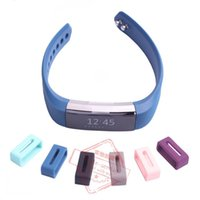 Wholesale High Quality Luxury Silicone Security Band Clasp Ring Loop Fastener For Fitbit ALTA New
