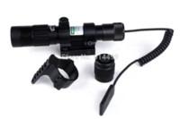 Wholesale Tactical Hunting Adjustable Green Laser Sight Designator Flashlight Night Vision Light Dot to Light Adjust w Mount