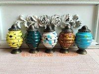 Wholesale Special acrylic HMM Imitation Ceramic spiral handle door handle drawer furniture crafts Zi alloy