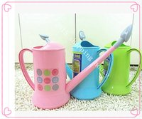 Wholesale Fashion plastic water cans long mouth watering pot shower gardening tools height cm