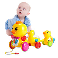 age of enlightenment - Children drag duck sound line lights above the age of enlightenment education baby pull toy