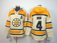 77 - Hockey jersey hoodie Boston Bruins Bobby Orr Ray Bourque Zdeno Chara Patrice Bergeron new hoodie name number Stitched