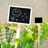 Wholesale Retangle Mini Wooden Blackboard Chalkboard Wordpad Message Holder Stick Stand Wedding Party Table Decor Message Number Tag