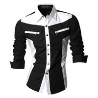 arrival features - 2016 Spring Autumn Features Shirts Men Casual Jeans Shirt New Arrival Long Sleeve Casual Slim Fit Male Shirts Z018