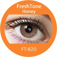 Wholesale the best selling mm honey colored contacts freshtone blends nice look korea fashion contact lenses