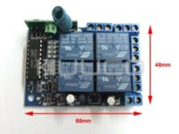 Wholesale 4 Way Controller Wireless Remote Control Switch Board V Portable Remote Control V Channel Self Locking Type