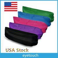 Wholesale USA Stock Colors Waterproof Inflatable Sofa Louanger Chairs Air Sleep Beds Lay Bag Camping Outdoor Beach Pads Couch AIR BAG SLEEP DHL p