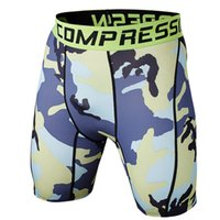 Wholesale Camo Mens Compression Shorts Leggings Jogging Running Base Layer Fitness Trousers Tights Sport Training Gym Wear Outdoor riding