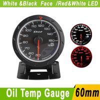Wholesale Oil Temp Gauge MM D FI Advance CR Oil Temperature Gauges With Sensor White Black Face Car Meter defi Auto Gauge Tachometer