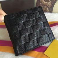 Wholesale new men brand designer wallet Genuine Leather square wallet luxury leather purse men top quality Money Purse