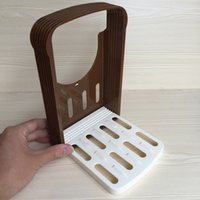 Wholesale thickness adjustable bread slicer Sliced bread rack Toast slicer Bakeware