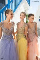 art section - V Neck Crystal Applique Sequins Evening Dresses And A Long Section Of Gauze Pants To Tutu