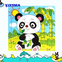 Wholesale wood toys panda montessori educational toy for children puzzles toys kids Birthday Children s toys gift