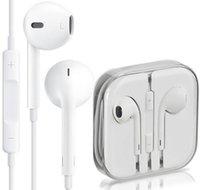 Wholesale Apple iPhone s plus s Headphone Original Earphone mm Handsfree with Mic Earphones ipad mini Earbuds Best quality Headset with Box