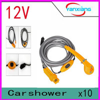 Wholesale 2016 Hot Sale Promotion Freeshipping Ce Washing Machine Parking v Camping Hiking Travel Car Pet Shower Spa Wash Kit YX DH