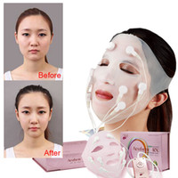 al por mayor máscara tapón-Yingzi Original Arrugas V Cara Chin mejilla Levantar adelgazando Slim Massager Mask USB Carga EU UE enchufe 110V-240V