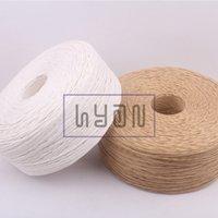 Wholesale mm Kraft white Packaging Decoration Paper Ropes DIY Packaging Strings Packaging Material meters