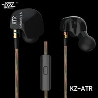 al por mayor controladores de samsung-KZ ATR 3.5mm en el oído del auricular Dual Driver Bajos de metal de alta gama de auriculares estéreo HIFI auriculares