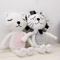 baby comforters small - Baby Cat Lion Soothe Pillows cm Crib Comforter Toy Cute Carriage Soft Cotton Kids Room Decor Children Christmas Gifts