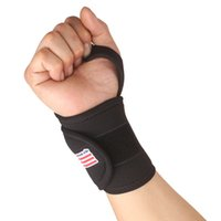 Wholesale Monolithic Sports Fitness Training Gym Elastic Stretchy Wrist Joint Brace Support Wrap Band Guard Protector Thumb Loop Black