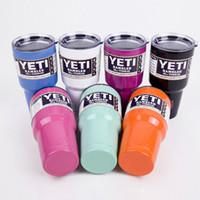 Wholesale Hot sell oz oz Stainless steel vacuum mug cup summer explosion models selling colored yeti mug