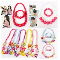 best options - hot the best fashion for children colorful bead necklace and bracelet kit multiple colors for option