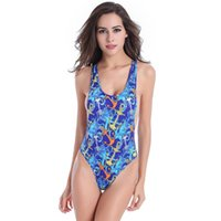 anchor print swimsuit - 2016 New High Grade Sexy Printing One Pieces With Chest Pad Summer Fashion Anchor Swimsuit Drop Shipping Hot Selling