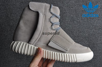 Cheap New Adidas Yeezy Boost 750 Grey Kanye West Baksetball Shoes Women Men Best Quality Sports Classic Yeezys Running Fashion Sneaker Boost 36-46