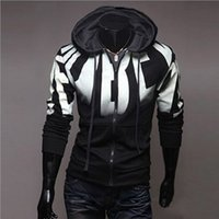 Wholesale Spring Autumn Men s Hip Hop Printing Zipper Hoodie Hipster Men s Fleece Hoodies Sweatshirt Sport Men s Hooded Jacket