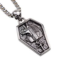 ancient indian jewelry - Ancient Egypt Anubis Silver Plated Tin Alloy Pendants Necklaces For Men Hip Hop Jewelry Ankh Best Friendship Pendant European Charms