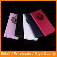 auto customizing - Auto Sleep Wake Phone Leather Case Bag Shell for Asus Zenfone Laser ZE500KL KG Window View Back Case